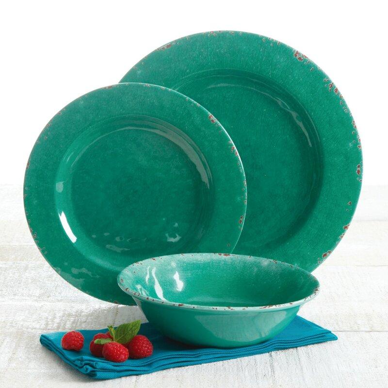 Scurio 12 Piece Melamine Dinnerware Set Service for 4  sc 1 st  Joss \u0026 Main & Scurio 12 Piece Melamine Dinnerware Set Service for 4 \u0026 Reviews ...