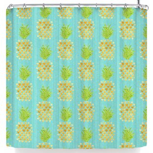 Noonday Design Heart Pineapples Shower Curtain