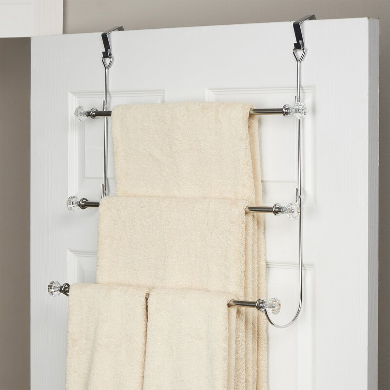 Over The Door Towel Rack Bathroom: Wayfair Basics™ Wayfair Basics 3 Tier Over-the-Door Towel