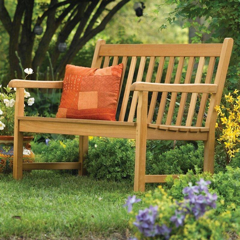 Harpersfield Rustic Natural Wood Garden Bench