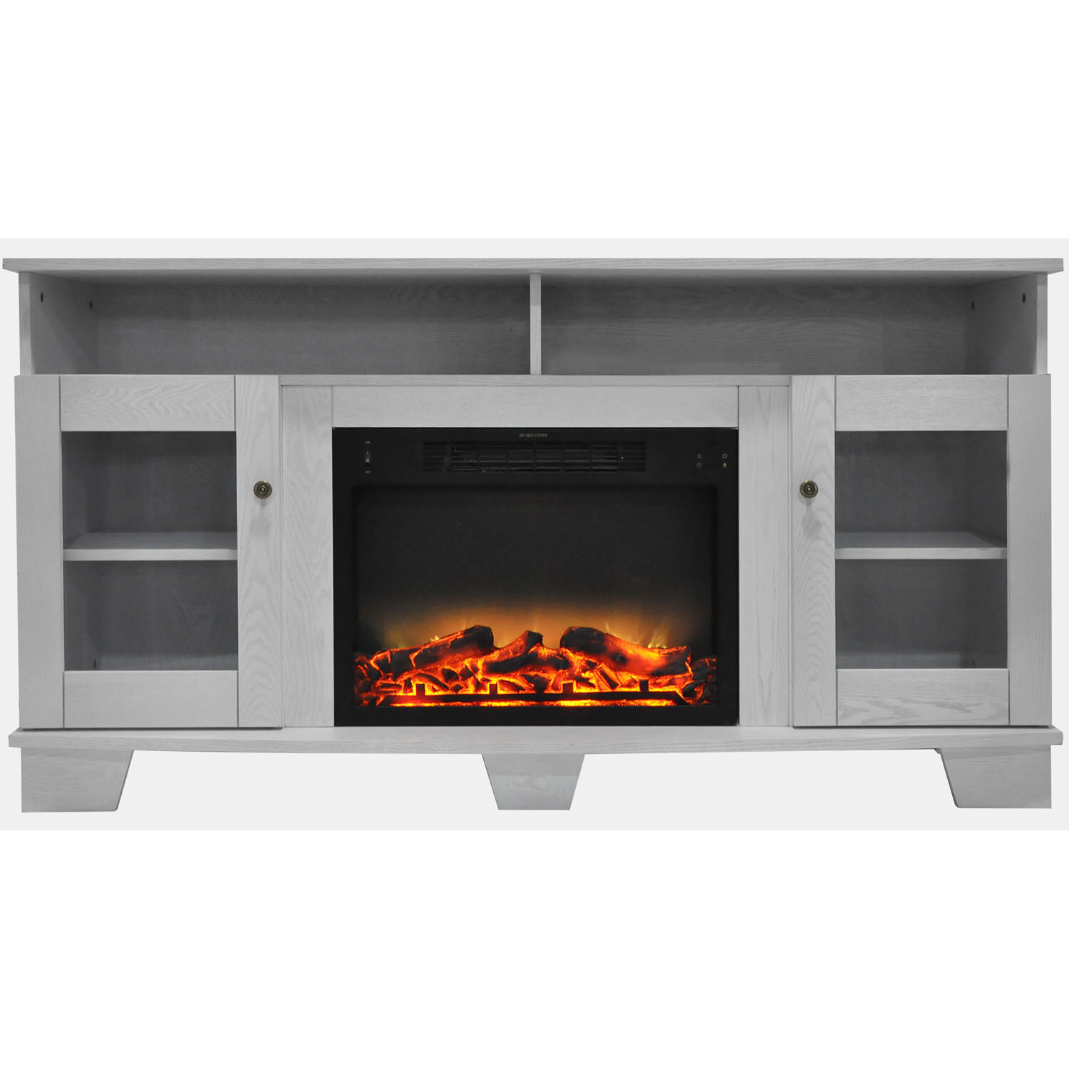 red barrel studio ackermanville modern electric fireplace tv stand reviews wayfair - Electric Fireplaces With Tv Stands