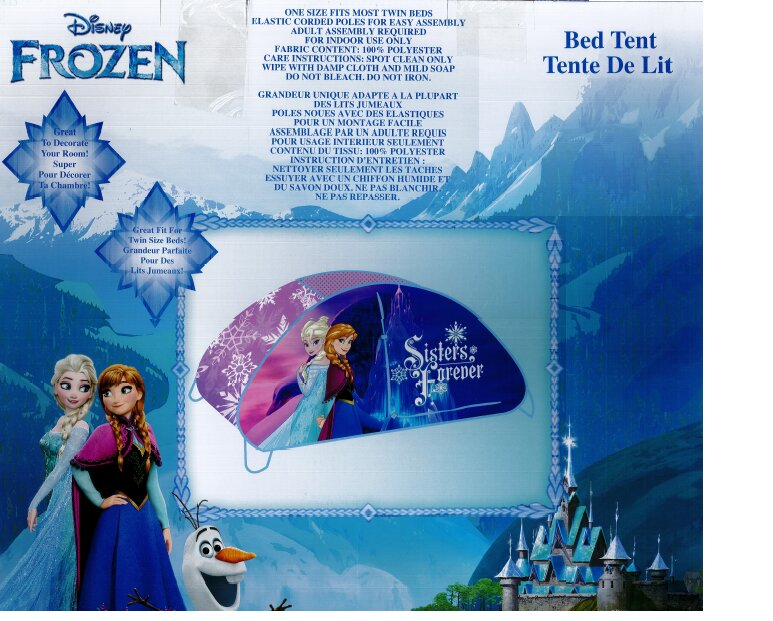 frozen bed tent instructions