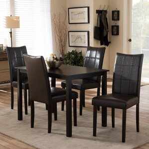 Littleton 5 Piece Dining Set by Latitude Run
