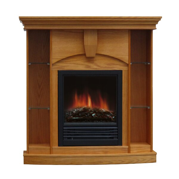 Charlton Home Belford Corner Curio Electric Fireplace