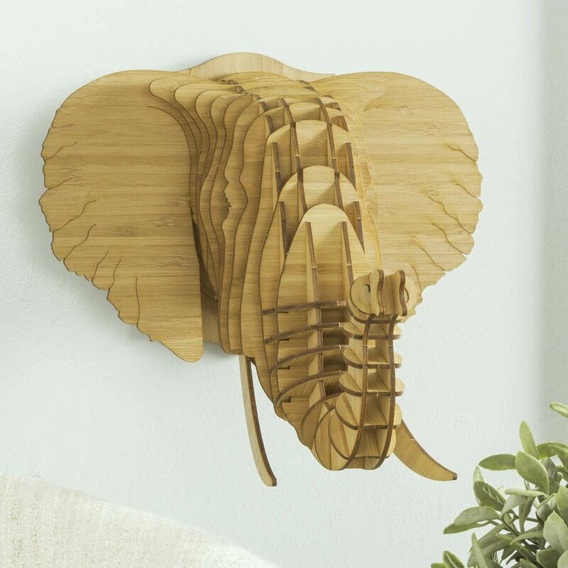 Eyan The Bamboo Elephant Head Wall Décor