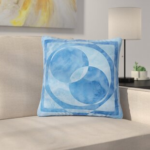 Matt Eklund Seafoam Geometric Outdoor Throw Pillow