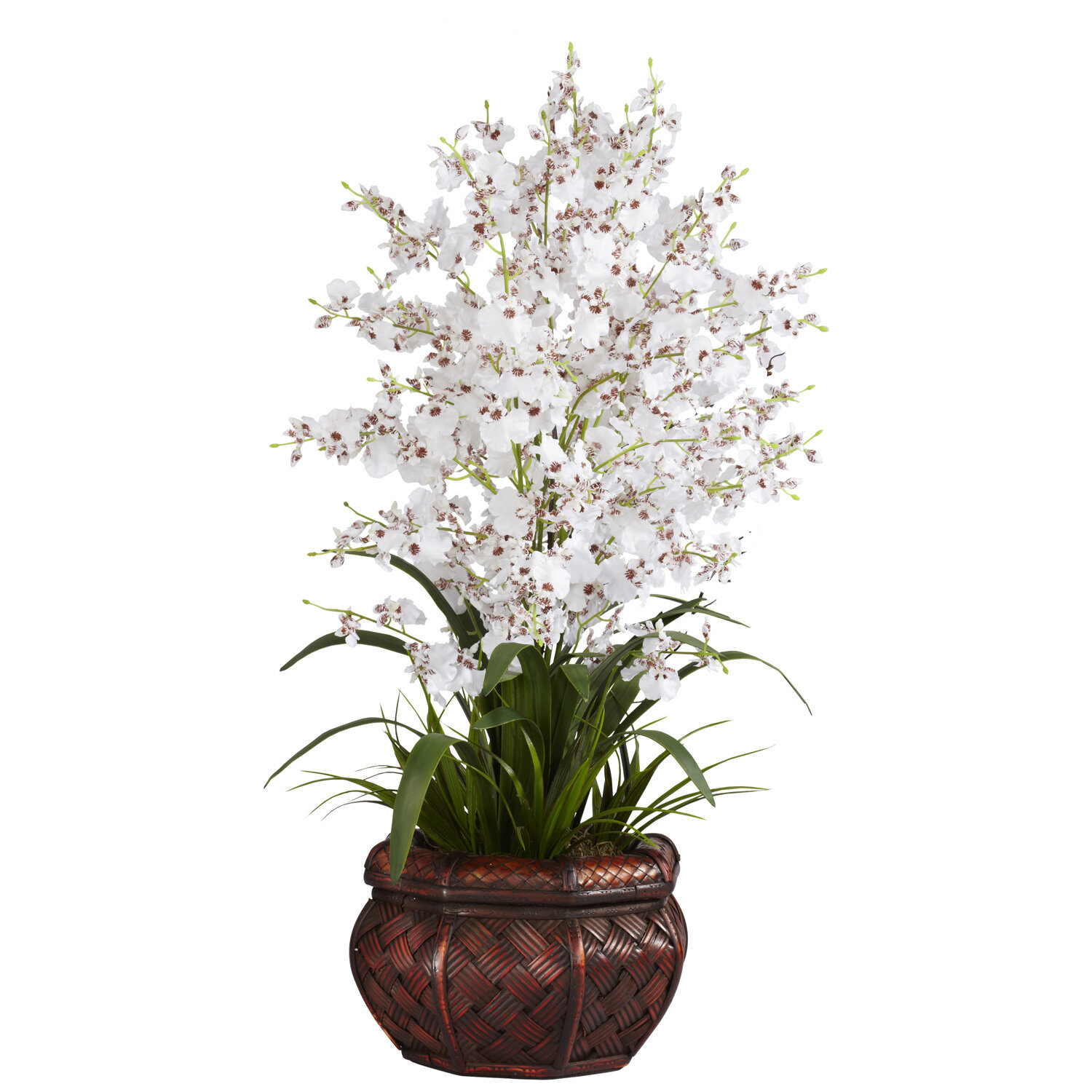 Nearly Natural Dancing Lady Silk Flowers In White Reviews Wayfair