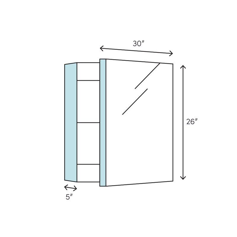 K Cb Clc3026fs Kohler 30 Quot X 26 Quot Aluminum Two Door Medicine Cabinet With Mirrored Doors Beveled