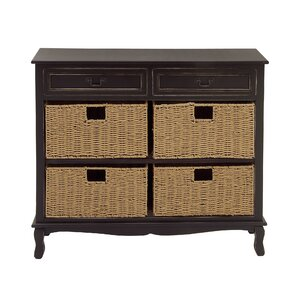2 Drawer Seagrass Accent Chest