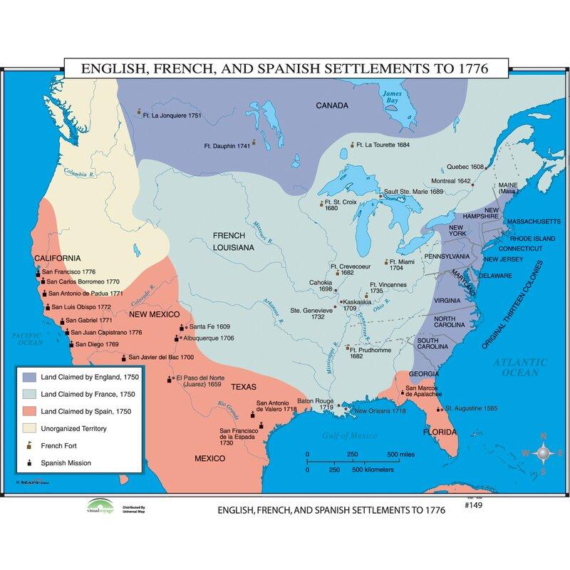 Universal Map World History Wall Maps - English, French & Spanish ...