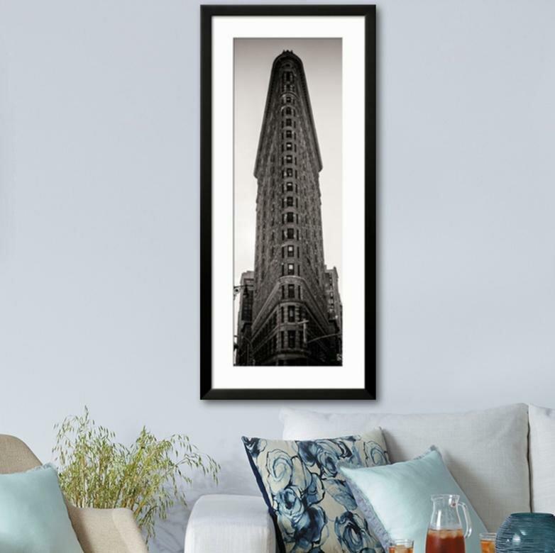 U0027Vertical Panoramic   Door Postersu0027 Framed Photographic Print. U0027