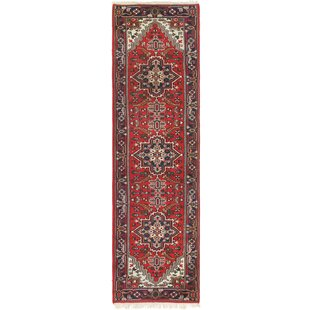One Of A Kind Loreen Runner Hand Knotted 2 10 X 7 Wool Red Area Rug