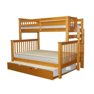Mission Twin over Full Bunk Bed with Full Trundle