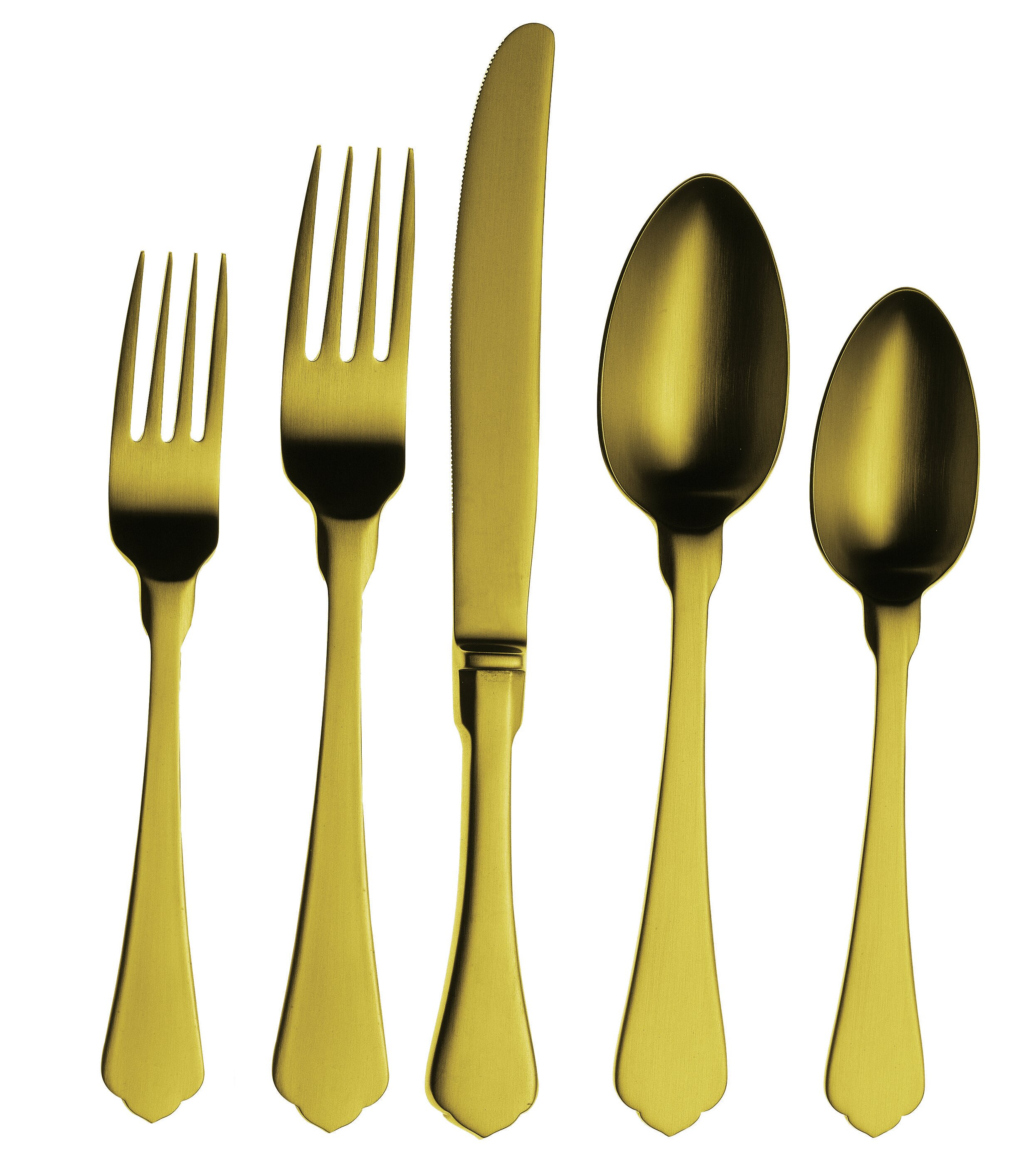 MEPRA Due 5-Piece 18/10 Stainless Steel Flatware Set | Wayfair