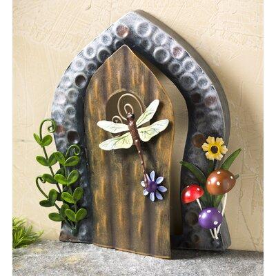 Miniature Dragonfly Door Fairy Garden