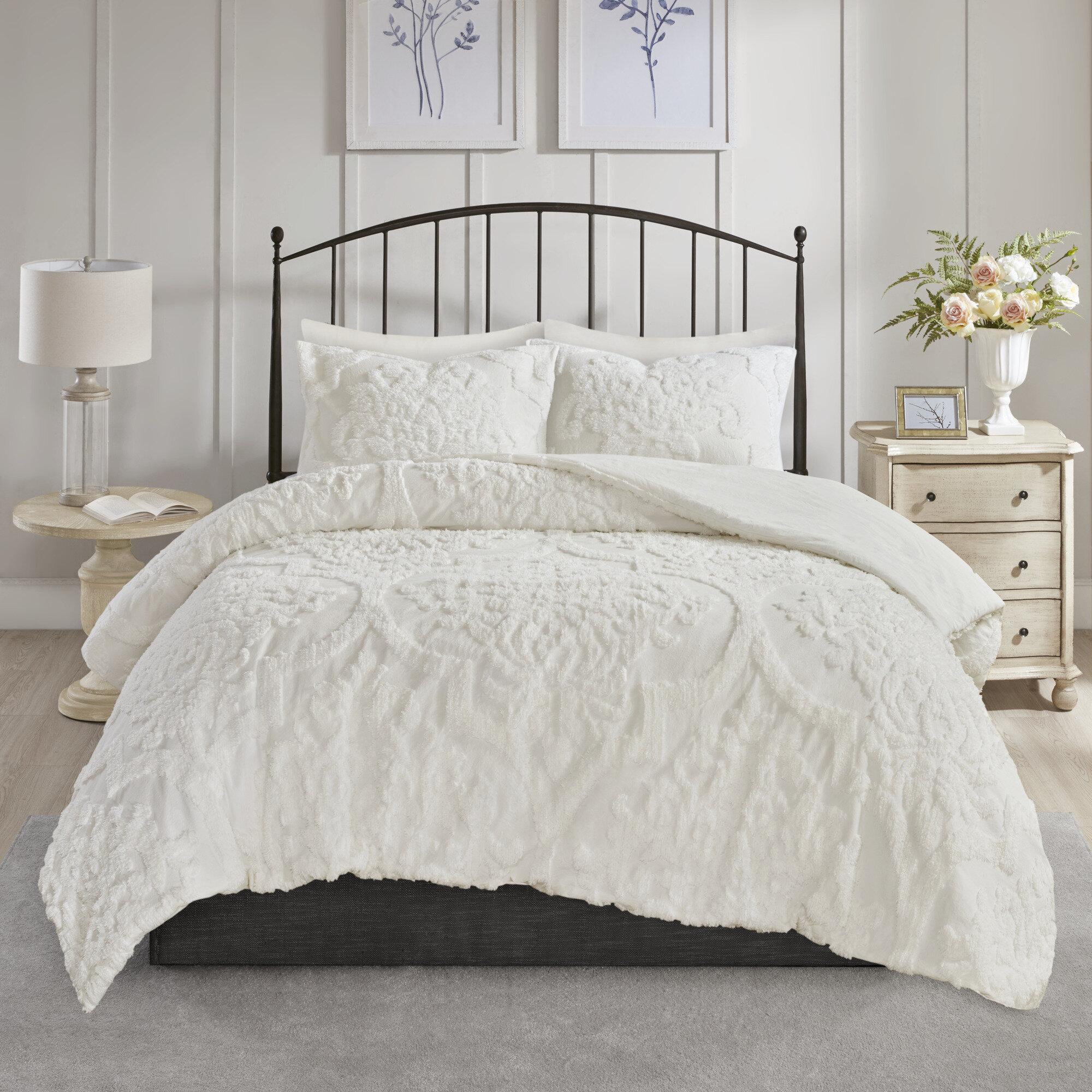 Eider Amp Ivory Kennesaw Chenille Damask Comforter Set Wayfair
