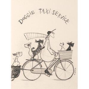 u0027doggie taxi by sam toft drawing print on canvas u0027