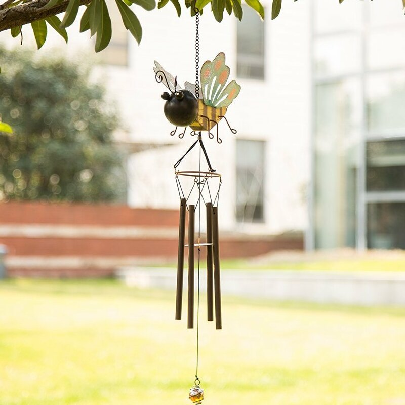 Insect Wooden And Iron Butterfly Patio Wind Chime