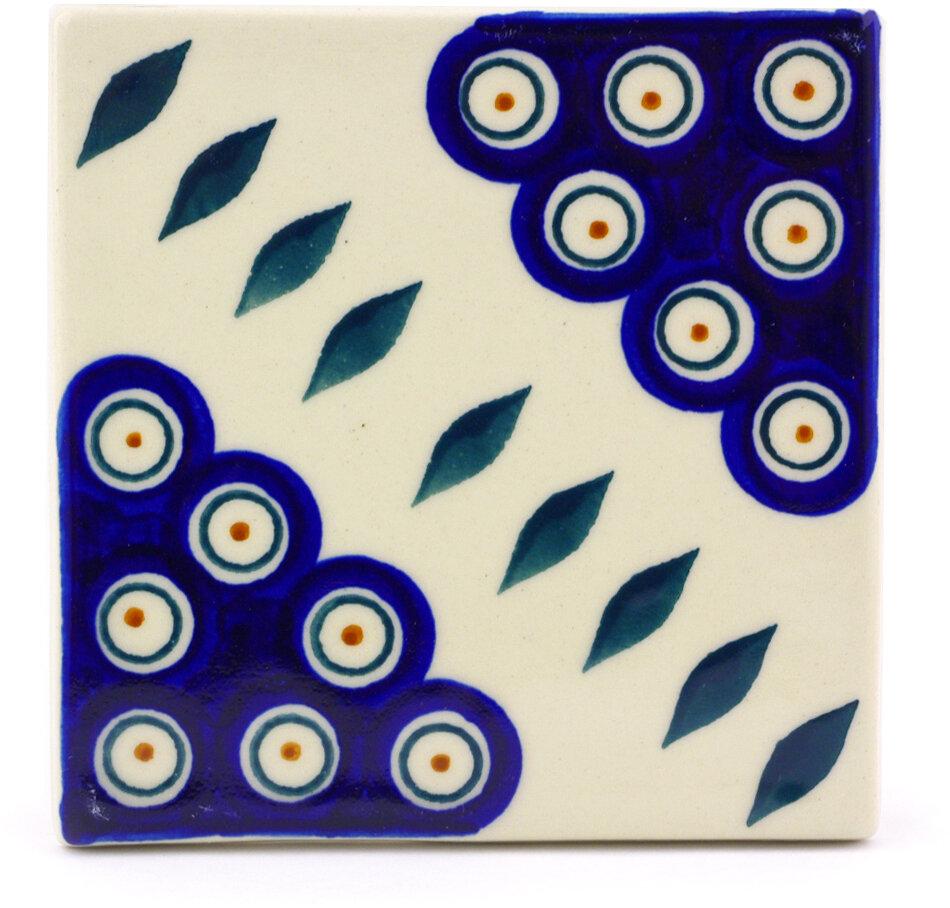 Polmedia Pea 4 37 X Ceramic Polish Pottery Decorative Accent Tile Wayfair