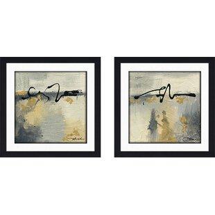 dd43bb35a03c  Lyrical II  2 Piece Framed Acrylic Painting Print Set
