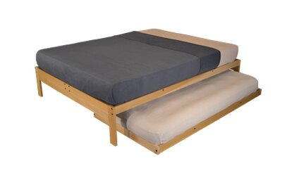 kd frames nomad 2 platform bed with trundle & reviews   wayfair
