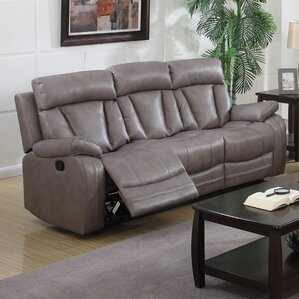Leanne Bonded Reclining Sofa by Latitude Run