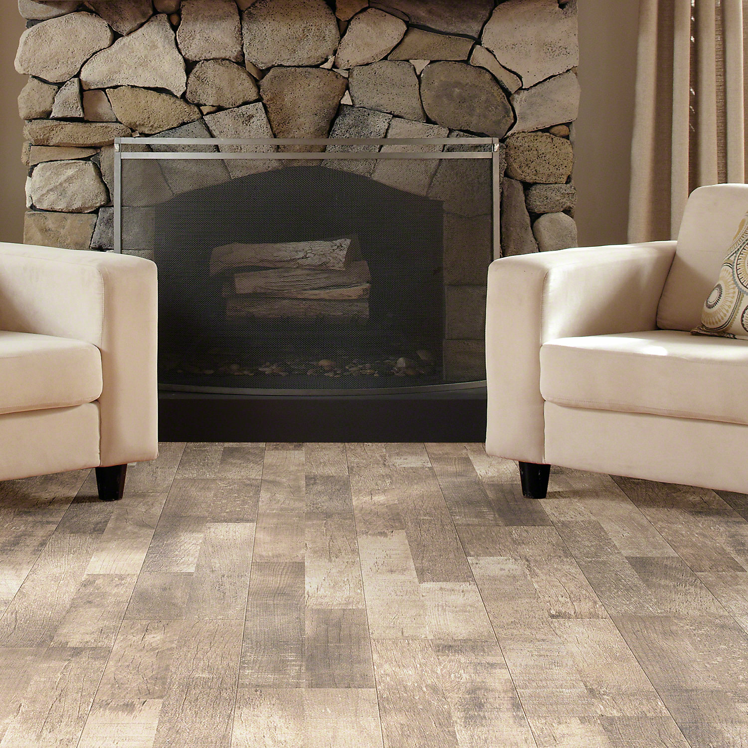 "Shaw Floors Reclaimed Belvoir 8"" x 48"" x 6mm Laminate Flooring in"