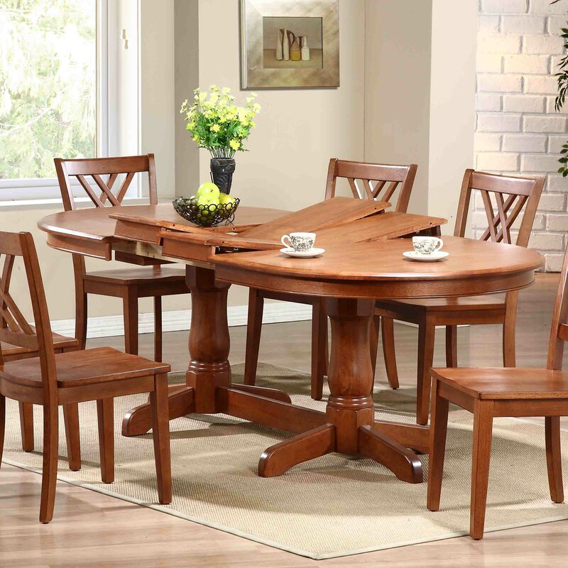 Extending Dining Room Table Adorable Iconic Furniture Extendable Dining Table & Reviews  Wayfair Inspiration Design