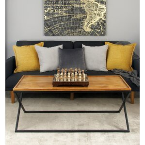 Metal and Wood Coffee Table with Tray Top by Cole & Grey