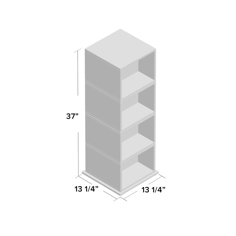 Delicieux Rotating Multimedia Cube Storage Tower