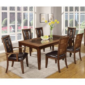 Calais 7 Piece Dining Set by Roundhill Furniture