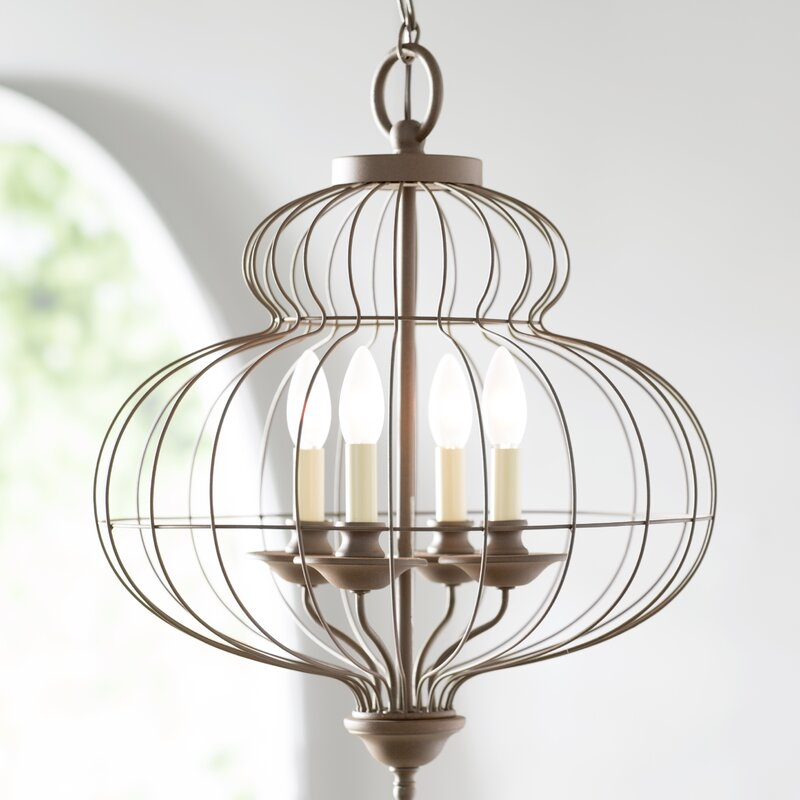Aaden 4 light foyer pendant