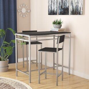 Howard 3 Piece Pub Table Set & Tall Kitchen Table Set | Wayfair