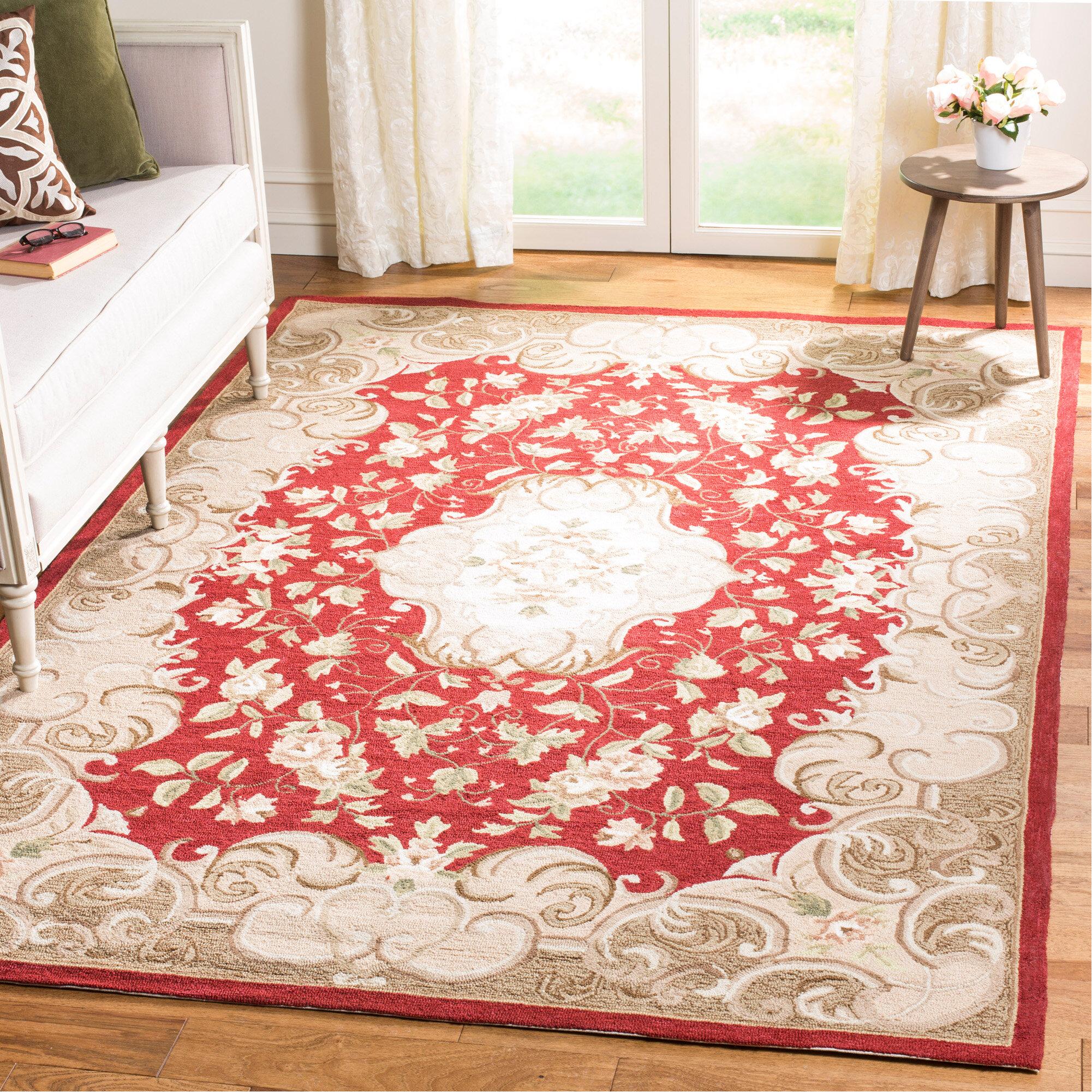 Tapis Salon Couleur Rouille tapis de couleur rouille / sauge crocheté à la main durarug
