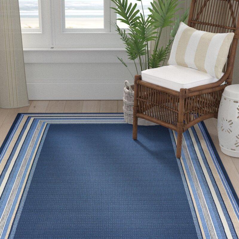 Highland Dunes Hadiya Navy Blue Indooroutdoor Area Rug Reviews