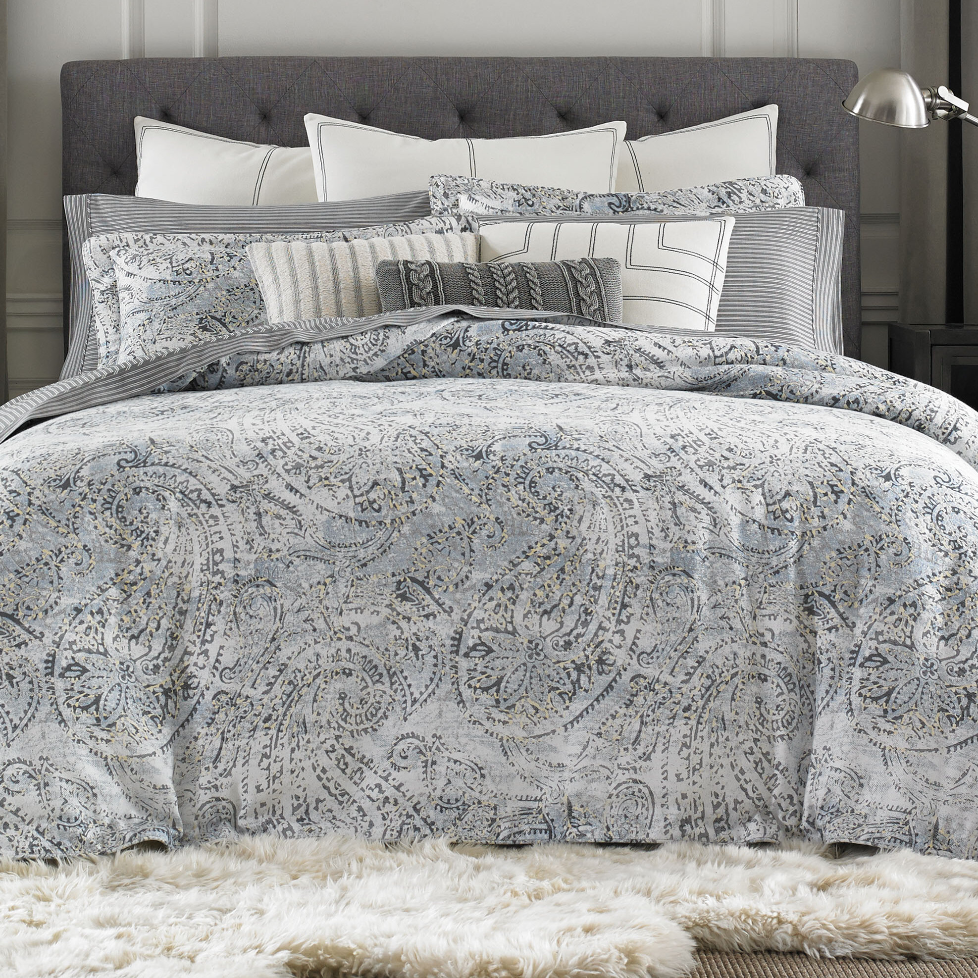 lorelle duvet large shop gray allen bedding cover ca ethan images en paisley