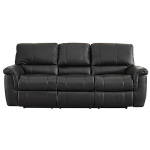 Averill Leather Reclining Sofa by Darby Home Co