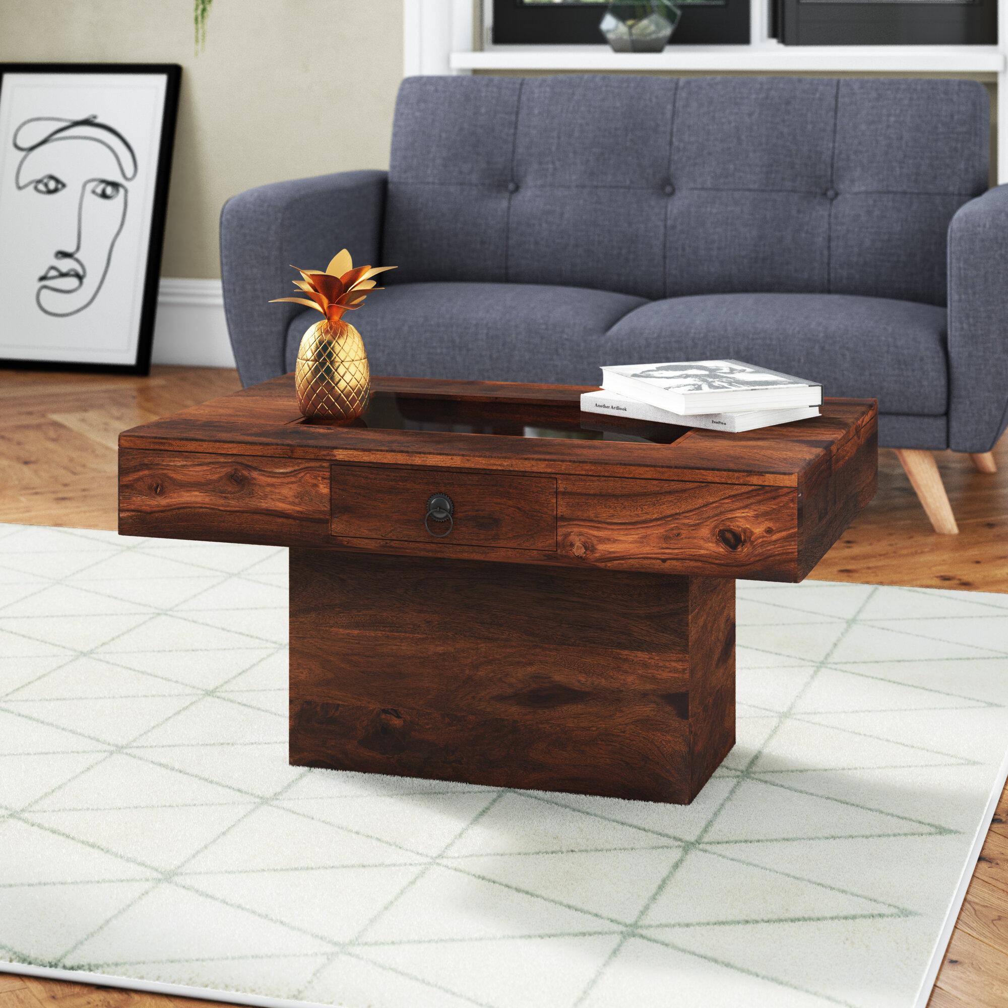 Prestington Jali Indian Coffee Table With Storage Reviews Wayfair Co Uk