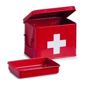 Medizin-Box in Rot von Zeller Present