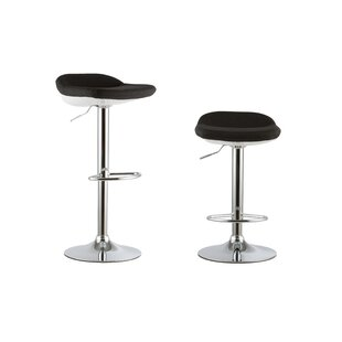 2 Piece Adjustable Height Swivel Bar Stool Set (Set of 2)