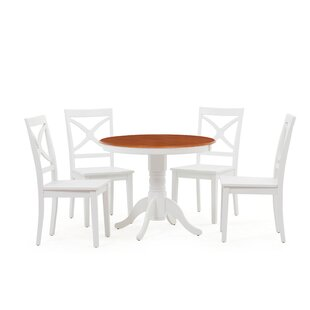 Heier 5 Piece Solid Wood Dining Set