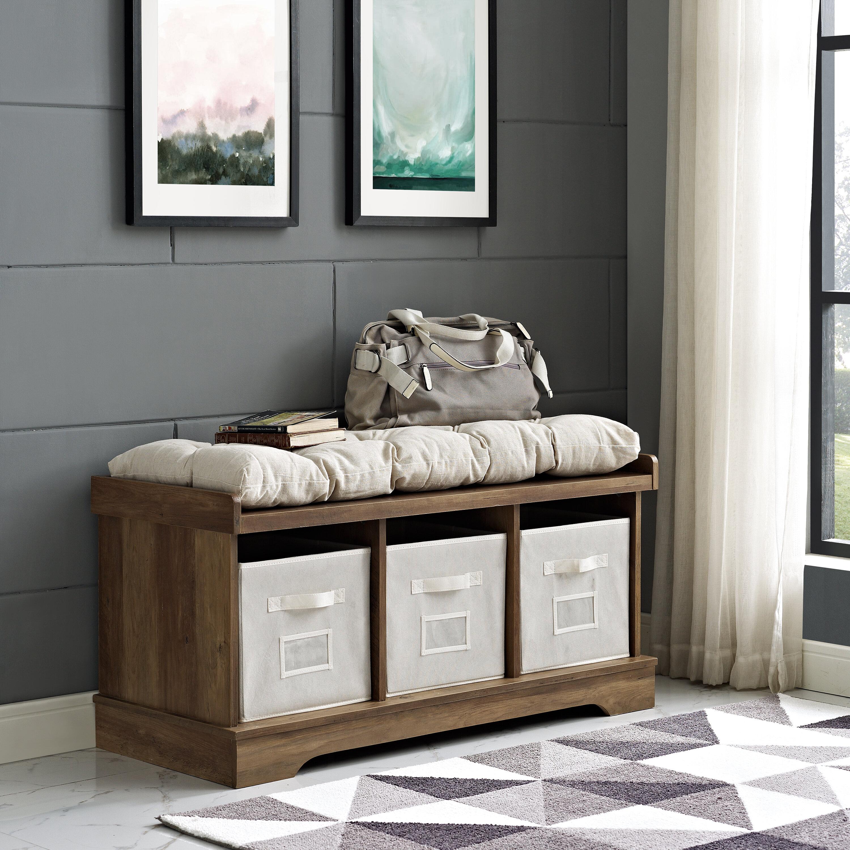 Large Wooden Storage Bench Wayfair