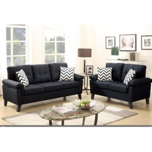 Leather Couch Loveseat Set   Wayfair