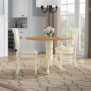 Thornhill Round Carved 3 Piece Solid Wood Dining Set