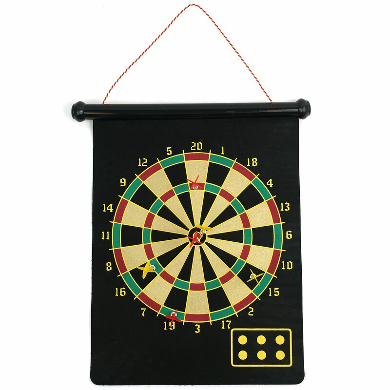 trademark games magnetic roll up dart board and bullseye game with