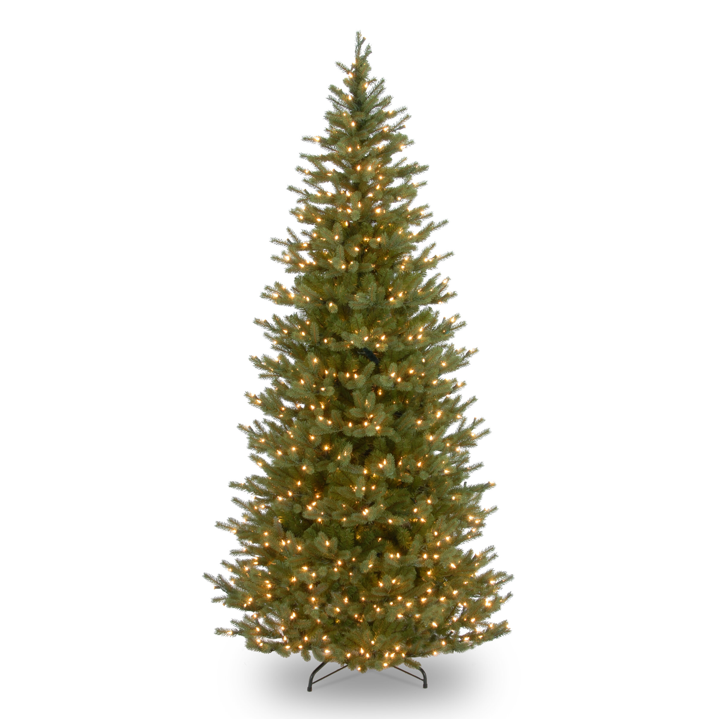 The Holiday Aisle Feel Real Norway Slim 7.5\' Green Spruce Trees ...