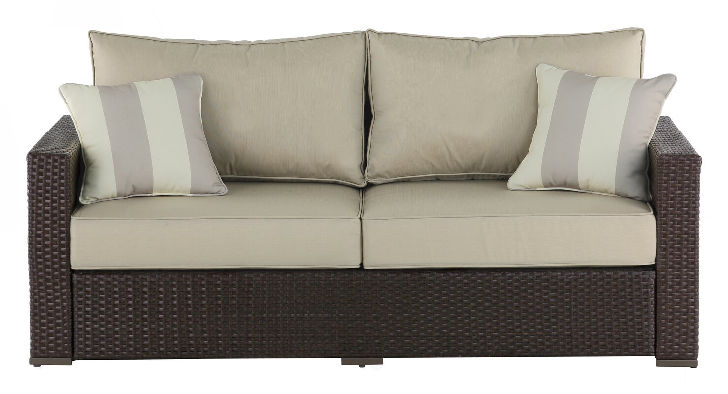 Outdoor sofa cushion serta at home laguna outdoor sofa for Sofa exterior