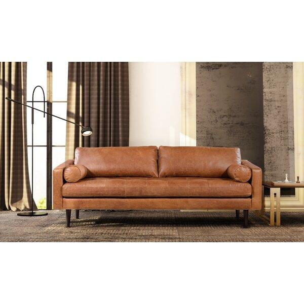 Light Tan Leather Sofa | Wayfair