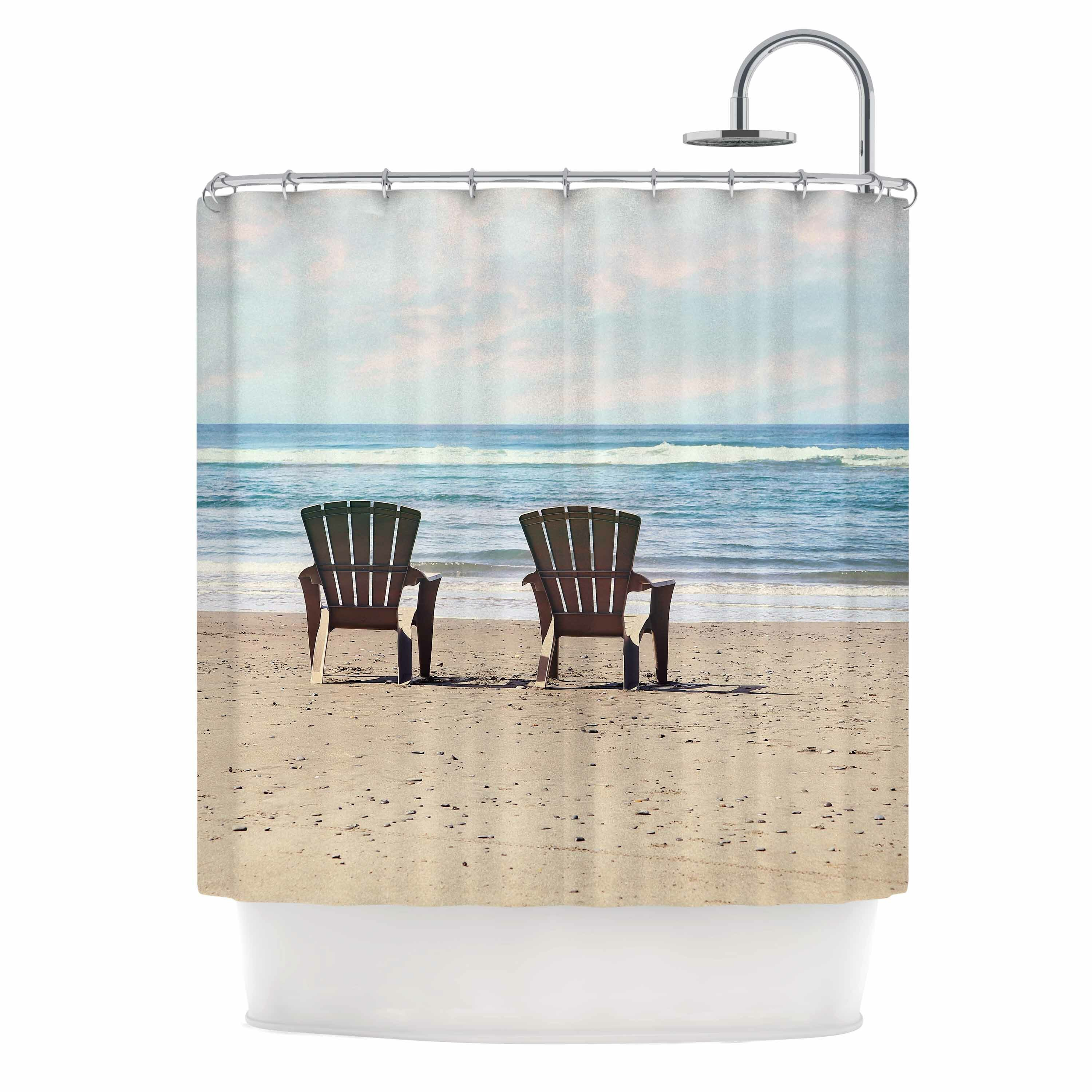 East Urban Home A Great View Travel Shower Curtain