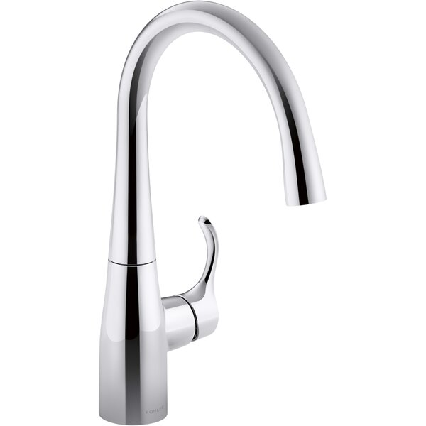 faucets reviews simplice with vs down kohler kitchen sink faucet exotic spout k pull